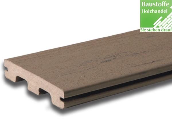 Timbertech WPC Massivdiele Silver Maple, Kollektion Terrain, 24x136mm seitl. genutet (auch ungenutet)