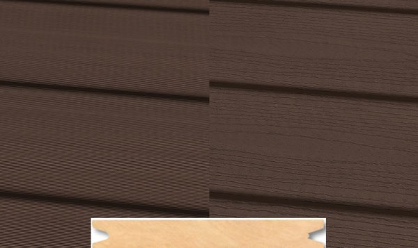 Massiv WPC Terrassendiele 22 x 143mm Dunkelbraun geprägt / geriffelt in 4 Längen