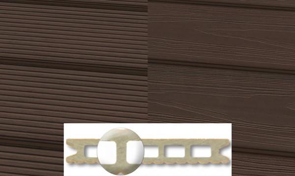 WPC Terrassendiele 22 x 143mm Mooreiche in 4 Längen