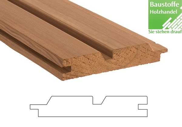 Lunawood Thermokiefer Doppelrhombus Fassadenprofil 26x142mm
