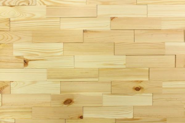 Wodewa Holzriemchen Kiefer nordisch 1m² in drei Oberflächen