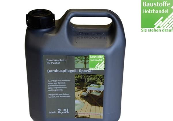 Bambus Terrassen Pflegeöl Mokka 1 Liter und 2,5 Liter