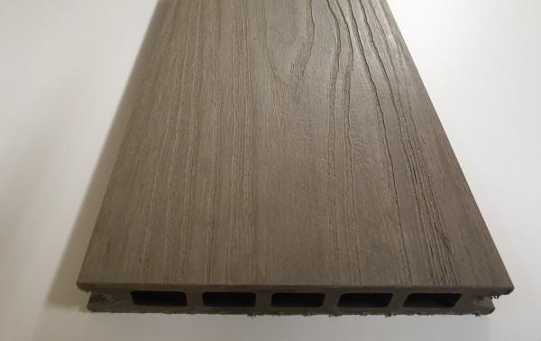 WPC Terrassendiele SOL 22 x 143mm Granit / gerillt in 4 Längen