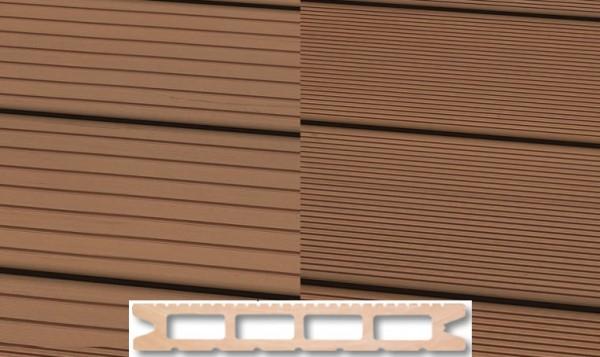 WPC Terrassendiele 22 x 146mm Hellbraun in 4 Längen
