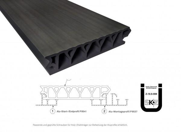 Twinson Terrace Plus Baumrindenbraun 32 x 167mm mit bauaufs. Zulassung in 4,5m und 6m Längen