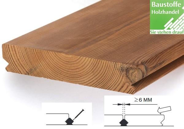 Lunawood Thermokiefer Terrassendiele 26x140mm glatt