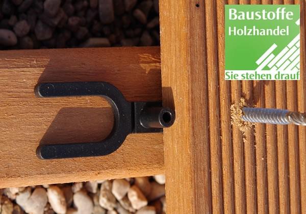 Abstandhalter für Terrassendielen VE-100 Stück zwei Funktionen in einem