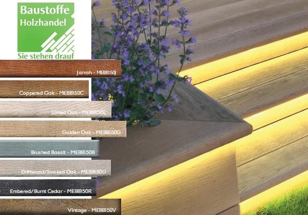 Millboard Terrassendiele Bullnose Rund 32x150mm in 7 Farben