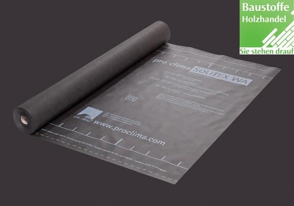 Fassadenbahn schwarz pro clima SOLITEX FRONTA WA 5.000cm x 150cm x 0,45mm (75m²)