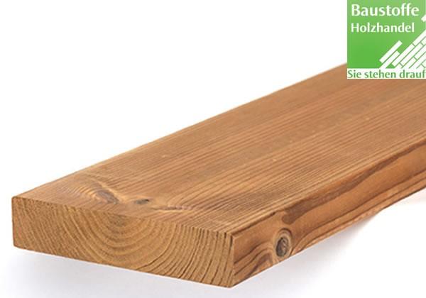 Lunawood Thermokiefer Terrassendiele 26x140mm glatt ohne seitliche Nut