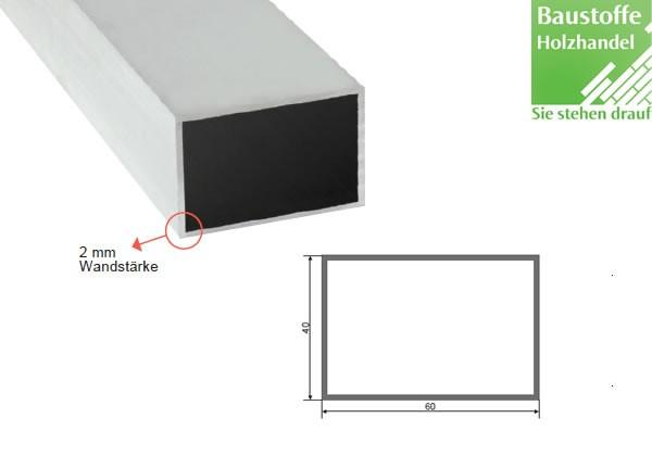 Aluminium System Unterkonstruktion 40x60mm in 2,0m VE =8 Stück