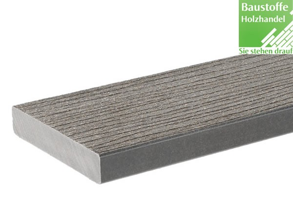 Timbertech WPC Massivdiele Gray, Kollektion Twin Finish, 24x136mm ungenutet (auch mit Nut)