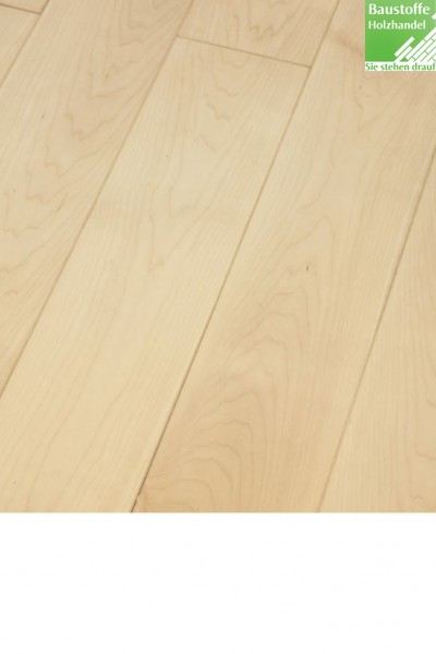 Landhausdiele Ahorn europ. elegant und rustikal in 15x140 und 20x140mm mit umlaufend Nut+Feder+Fase