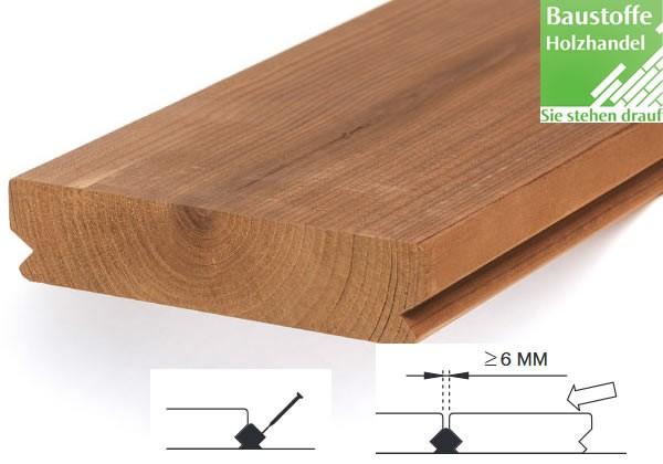 Lunawood Thermokiefer Terrassendiele 26x117mm glatt