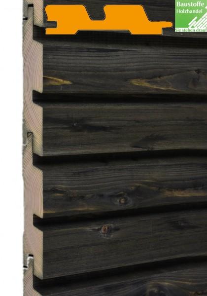 MOCOPINUS Fassade Rhombo Duo, (RHO 00 d) gehobelt Fichte Grau-Kesseldruckimprägniert