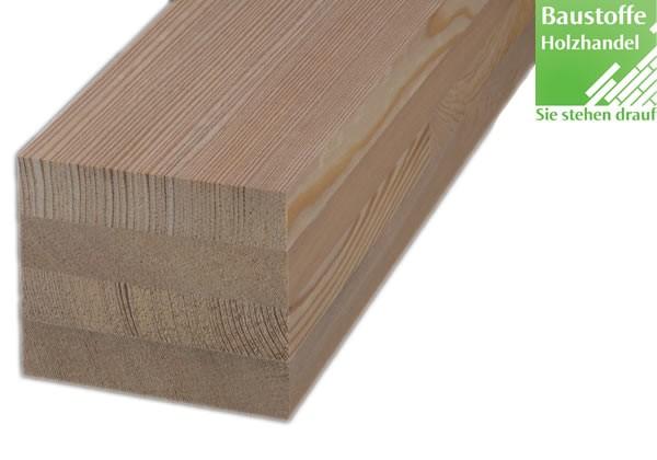 Lärche sibirisch Holz Unterkonstruktion 91x91mm glatt keilgezikt 4m und 6m