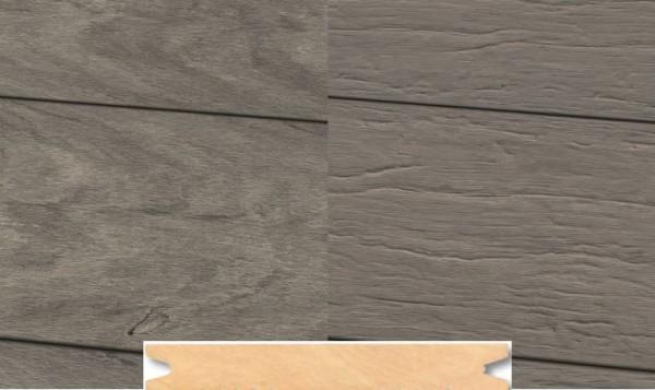 Massiv WPC Terrassendiele 22 x 143mm Steingrau gealtert / gebürstet in 4 Längen