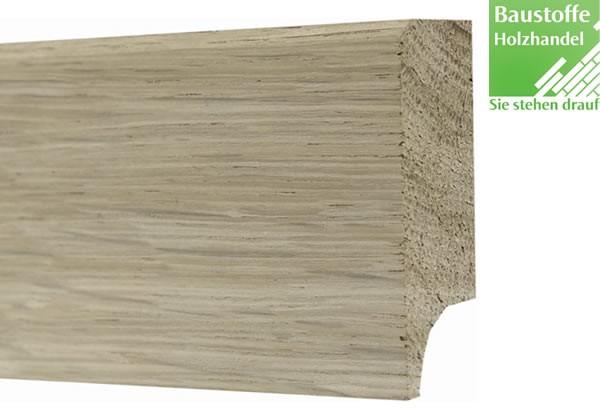 Sockelleiste Massivholz Eiche astrein angeräuchert 20x60mm unbehandelt