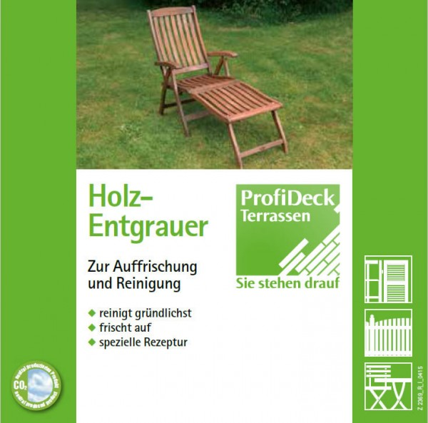 Reiniger und Entgrauer 2,5 Liter für Dauerholz Terrassen