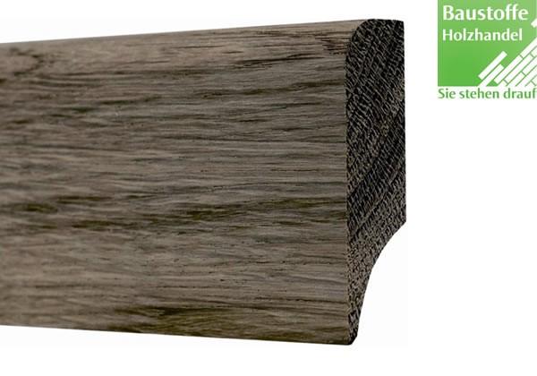 Sockelleiste Massivholz Räuchereiche gebeizt und geölt 20 x 60mm