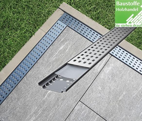 Terrassen Entwässerungsrost für eine fachgerechte Drainage