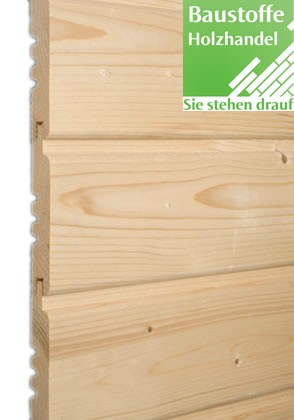 Softlineprofil nordische Fichtegehobelt 19x121mm