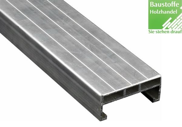 Aluminium Unterkonstruktion 24x60mm - 4m für Terrassenbau