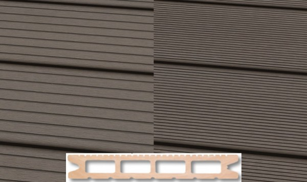 WPC Terrassendiele 22 x 146mm Hellgrau in 4 Längen
