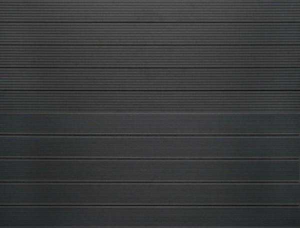 WPC massiv Terrassendiele 22 x 143mm Dunkelgrau gerillt / genutet in 4 Längen