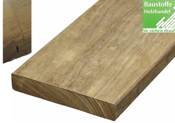 Momoqui System Terrassendiele 21x100mm glatt, Nut und Feder Kopfseitig