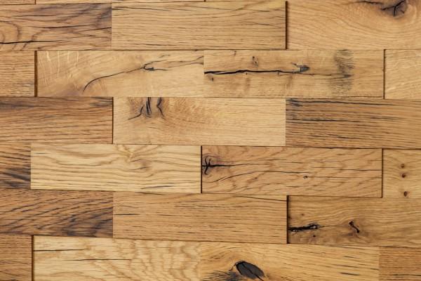 Wodewa Holzriemchen Eiche Altholz 1m² in zwei Oberflächen