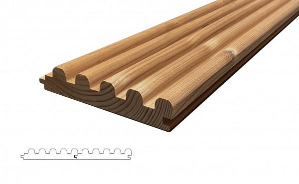 Lunawood Thermokiefer Femma 5 Finger Fassadenprofil 26x142mm