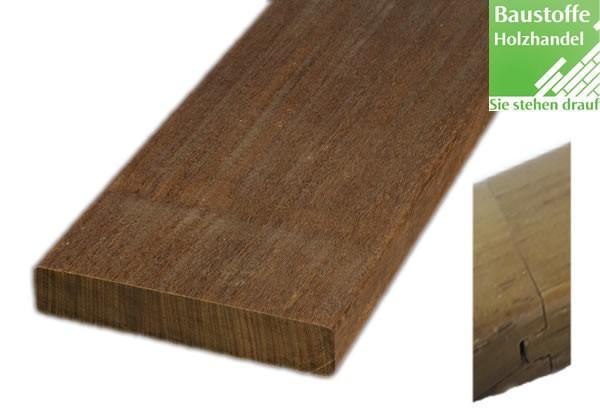 Ipe System Terrassendiele 21x145mm vierseitig glatt, Nut und Feder an den Kopfenden zur Endlosverleg