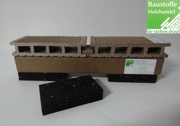 Terrassen Gummigranulat Unterlage 20x60x100mm