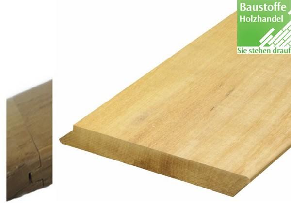 Garapa System Terrassendiele schräg 21x135mm glatt Nut und Feder kopfseitig zur Endlosverlegung