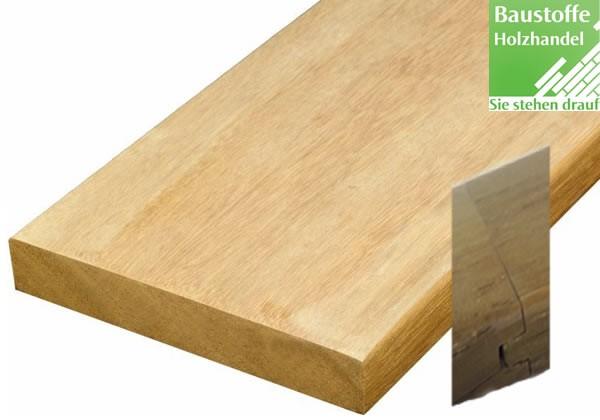 Bangkirai System Terrassendiele 25x145mm glatt Nut+Feder Kopfseitig zur Endlosverlegung