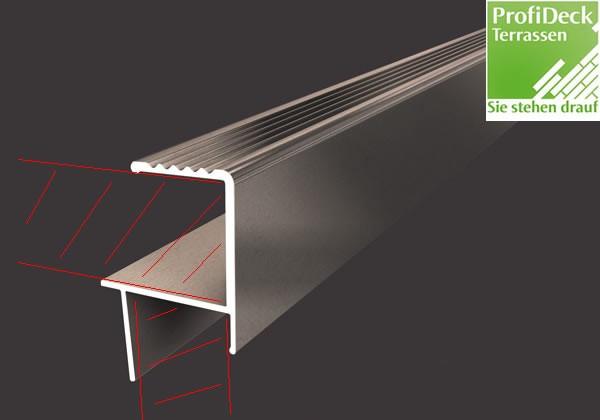 UPM ProFi Aluminium Abschlussschiene für 28mm Dielen