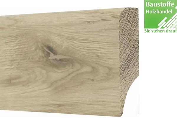 Sockelleiste Massivholz Eiche astig 15x60mm unbehandelt