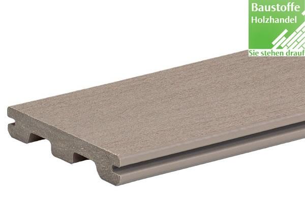 Timbertech WPC Massivdiele Sandy Birch, Kollektion Terrain, 24x136mm seitl. genutet (auch ungenutet)