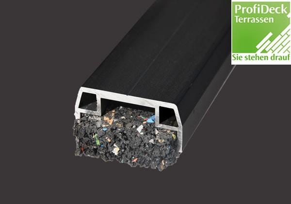 UPM ProFi Aluminium Unterkonstruktion 23x40mm in Schwarz mit Gummigranulat