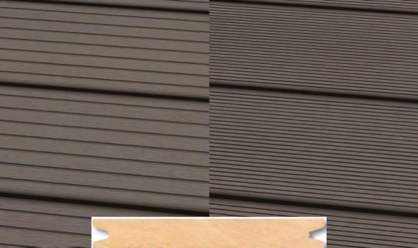 Massiv WPC Terrassendiele 22 x 143mm Hellgrau gerillt/genutet in 4 Längen