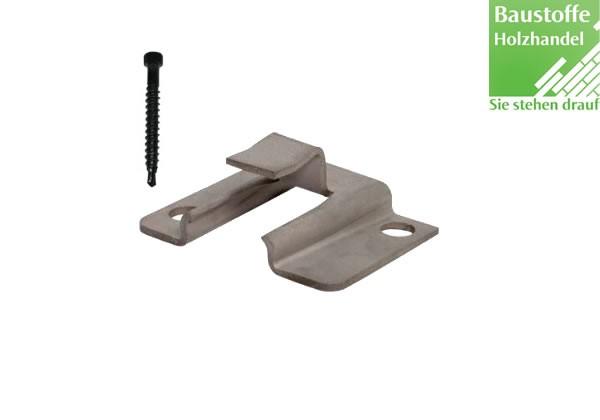 WPC Atrox Terrassen Startclip Edelstahl für WPC und Aluminium UK