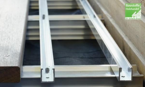 Auflageschiene für Terrassen Entwässerungs-Belüftungsgitter 19 x 150mm x 1,20m