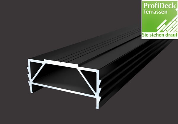 UPM ProFi Aluminium Unterkonstruktion 30x64mm in Schwarz