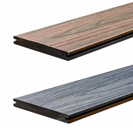 WPC StrongWood XL Solid db 20 x 190mm in Holz gemasert Grau und Teak