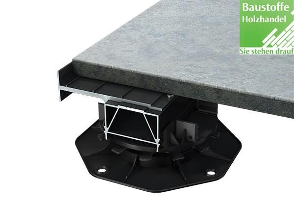 S-Fix Plattenlager für Plattenverlegung im Randbereich auf Aluminium Unterkonstruktion