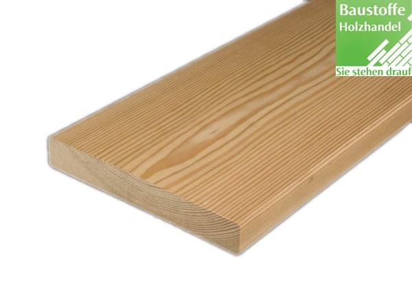 Glattkantbretter, Balkonbretter sibirische Lärche u/s in 3 Querschnitten