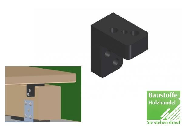 Kebony End-Terrassenclip 10 Stück inkl. Schrauben 4,2x22mm