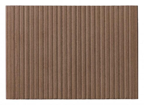 Twinson Terrace 9555 Walnussbraun 28 x 140mm fein/grob geriffelt in 4m, 5m und 6m Längen