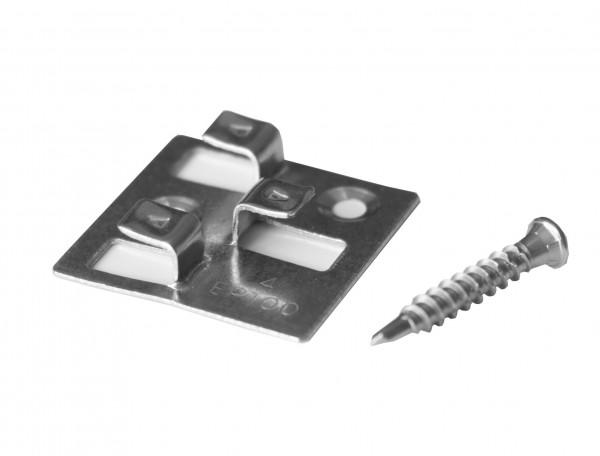 WPC Atrox Terrassenclip Edelstahl für WPC und Aluminium UK, Fugenbreite 4mm